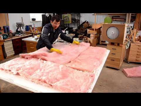 Making sound dampening ceiling panels