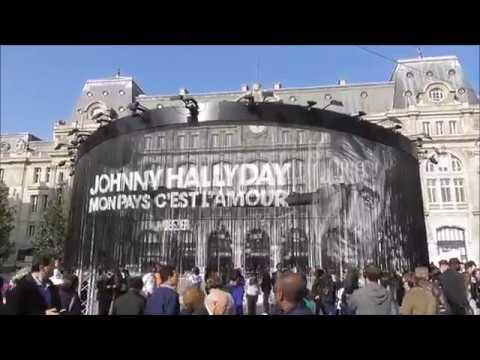 Décor à Paris pour le dernier album de Johnny Hallyday Mon pays c'est l'amour le 19 octobre 2018