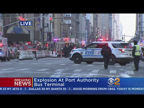 Port Authority Shut Down By Possible Pipe Bomb Explosion