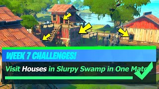 Visit Houses in Slurpy Swamp in One Match - Fortnite