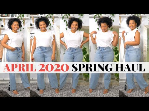 April Spring 2020 Try-On Haul | Zara, Agolde, Banana Republic, Topshop