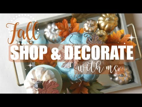 Decorate For FALL With Me! + Shop With Me For FALL Decor!! | Maranda Christine