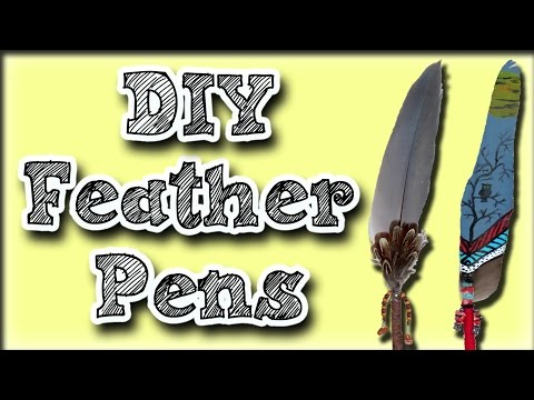 How To Make A Feather Pen - A Gift Idea