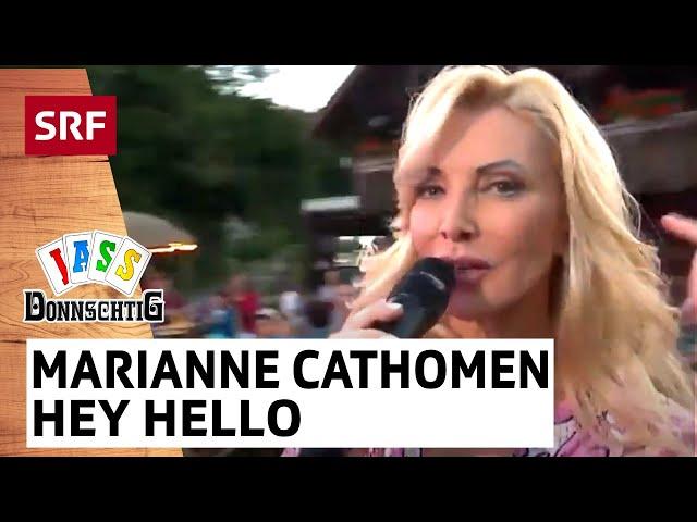 Marianne Cathomen: Hey Hello, wir sind verrückt wir beide | Donnschtig-Jass | SRF Musik