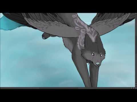 Flying around- Wolf Speedpaint