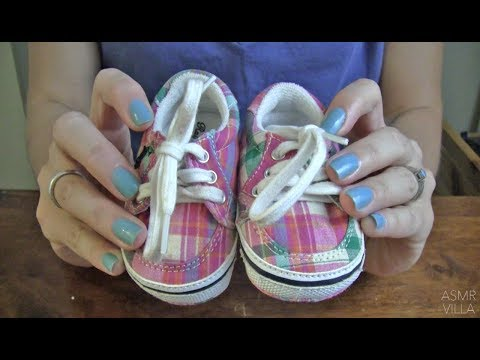 ASMR * Theme: Baby/Kids Shoes * Soft Spoken * Tapping & Scratching * Fast Tapping  * ASMRVilla