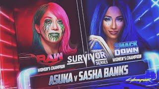 Sasha Banks VS  Asuka  SS 2020