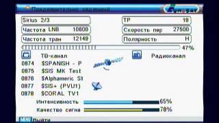 Как настроить каналы в автоматическом режиме  Eurosky 8004