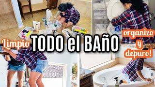 LIMPIEZA de el BAÑO 🛀 como limpio mi baño y desinfecto el baño Rutina de limpiar todo el baño