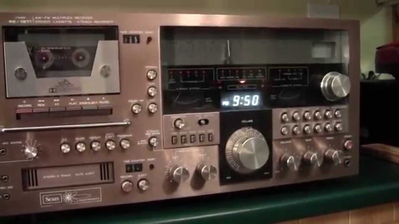 Sears Re 1211 3 In One Cassette 8 Track Receiver Youtube