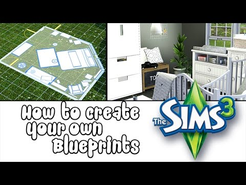 How To Make Custom Your Own Blueprints In The Sims 3 Add Single Rooms To Your Houses
