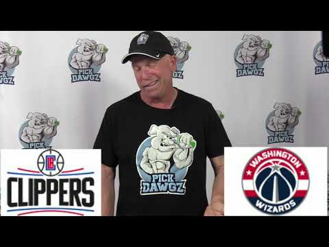 Los Angeles Clippers vs Washington Wizards 7/25/20 Free NBA Pick and Prediction NBA Betting Tips (skip to 20s)