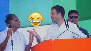 Rahul Gandhi Funny Speech in Kerala Congress Public Meeting | Rahul Gandhi Translator Funny | TT