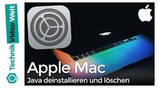 Mac Java deinstallieren und löschen