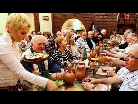 Yerevan - The Pilgrim's Group At Caucasus Tavern