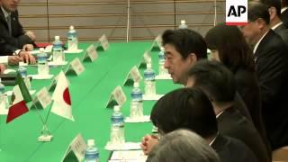 Japan PM Shinzo Abe meets Mexican President Pena Nieto
