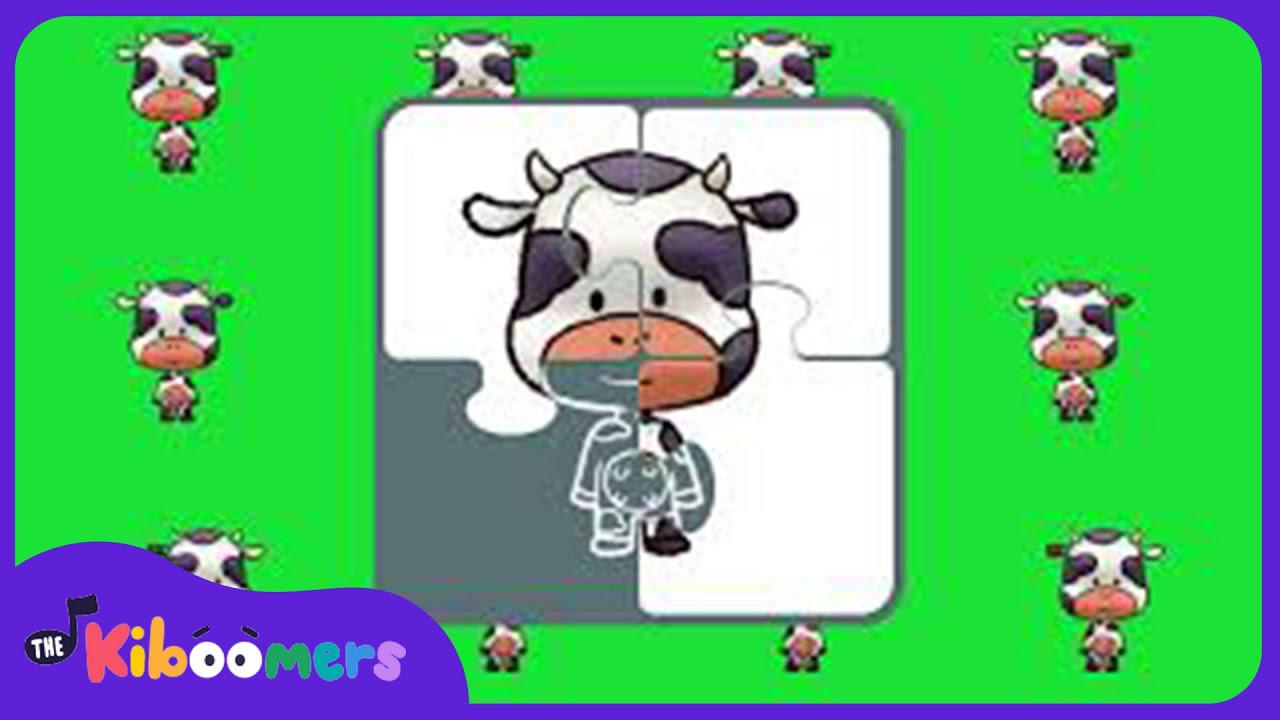 Cow First Words | Baby Music Learning | The Kiboomers l Lullabies for babies to go to sleep