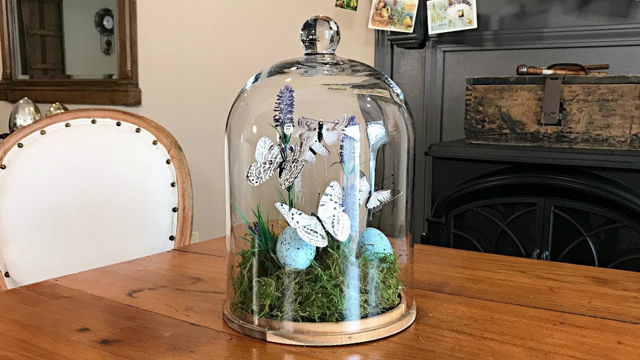 Spring Butterfly Terrarium Easter Decorating Cloche