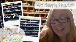 ART SUPPLY HAUL +  ART SHOP HEAVEN