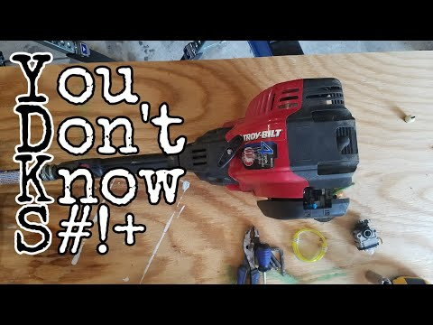 How to replace a carburetor on a Troybilt weed eater.