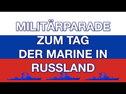 Militärparade zum Tag der Marine in Russland. Was bedeutet das für den Westen?