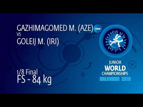 1/8 FS - 84 Kg: M. GOLEIJ (IRI) Df. M. GAZHIMAGOMED (AZE) By TF, 11-1