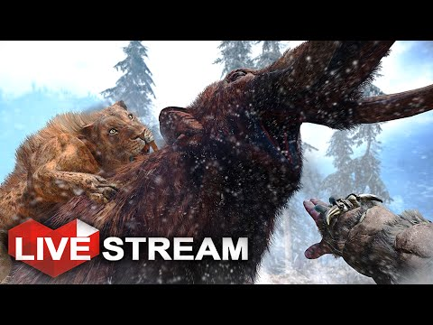 Far Cry Primal Gameplay: Terror of the MAD MAMMOTH | Beast Master HUNT | Live Stream