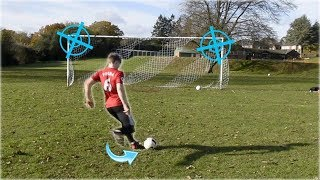 The PERFECT PENALTY in the NEW football GOAL (top bins)