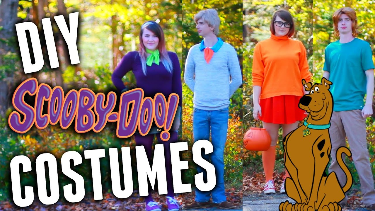 diy scoobydoo group costumes youtube