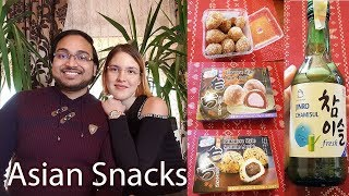 Trying Asian Snacks | Japanese Snacks | Korean Drink | Soju