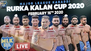 LIVE - Rurka Kalan (Jalandhar) Kabaddi Cup - Major League Kabaddi Federation