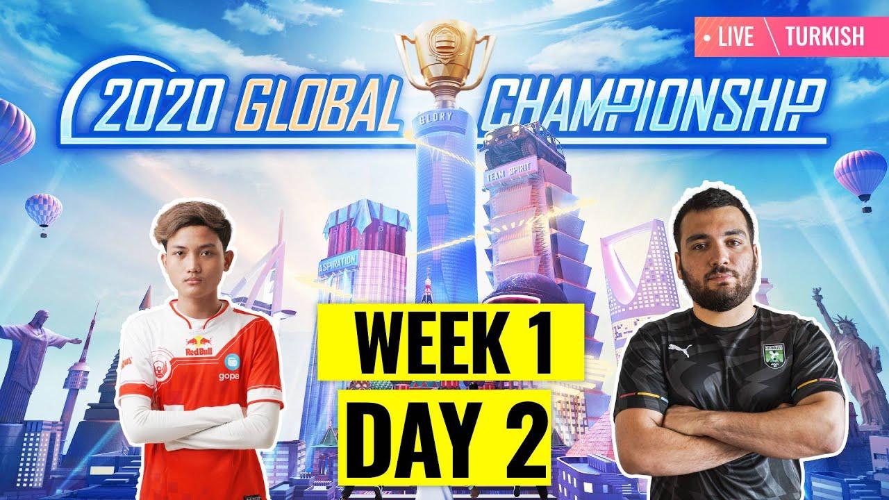 [TR] PMGC 2020 Lig Aşaması H1G2 | Qualcomm | PUBG MOBILE Global Championship | 1. Hafta 2. Gün