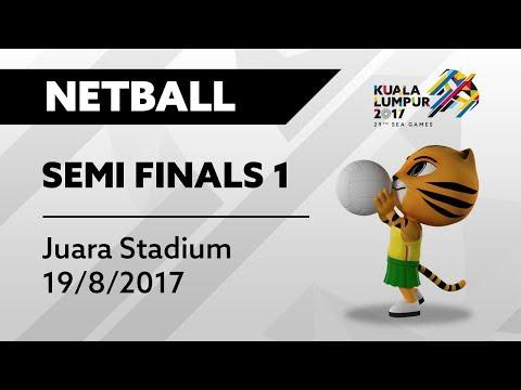 KL2017 29th SEA Games | Netball - SEMIFINALS 1 - MAS 🇲🇾 vs BRU 🇧🇳