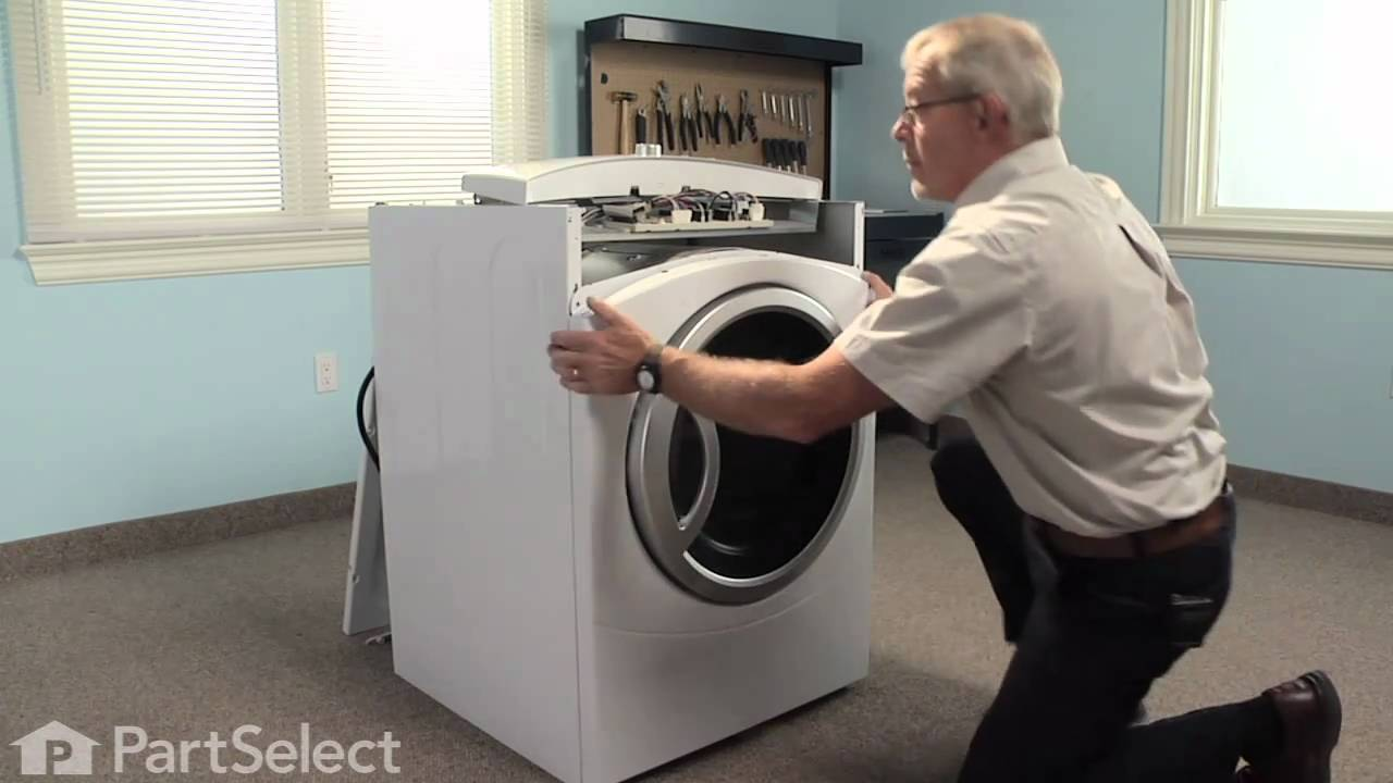 dryer repair replacing the dryer drum slide ge part we1m481 rh youtube com Washer Dryer Appliances Washer Dryer Combo