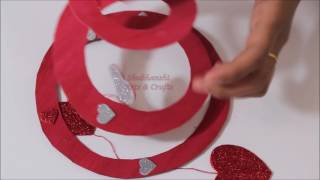 Valentine's Day Party Decor | DIY Spiral for Valentines Day Decoration