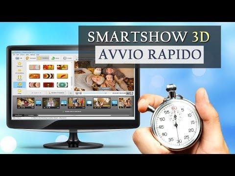 Il miglior programma per creare video con foto 2018 - SmartSHOW 3D avvio rapido