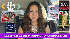 Real Estate Agent Branding - Open House Signs