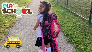SALLY'S FIRST DAY OF SCHOOL! DAD not Happy- Family fun vlog