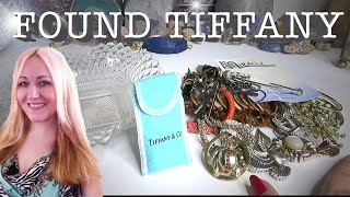 Found Tiffany! Thrifting to Make Profit! Let's Go Thru My Thrift Haul! Vintage Murano, Lefton & More