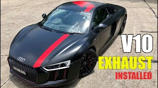 2018 AUDI R8 V10 RWS Quicksilver Exhaust Review & Installation