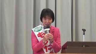 千葉市花見川でおこなった日本共産党演説会で決意を語る。2018.11.23.