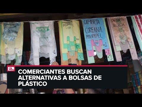 Comerciantes afectados por la prohibición de bolsas de plástico