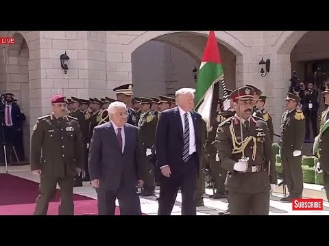 President Donald Trump Participates in Arrival Ceremony with President Mahmoud Abbas in Bethlehem