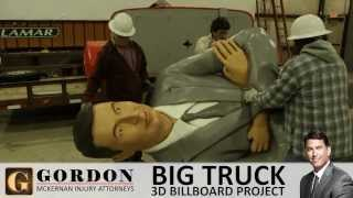3D Big Truck Wreck Billboard | Personal Injury Lawyer | Gordon McKernan Injury Attorneys