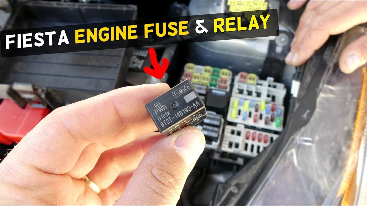 Ford Fiesta Engine Fuse Relay Power Train Mk7 St
