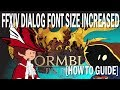 FFXIV How to Increase the Dialog Box Size and Font [Guide] [Keyboard and Mouse] [Controller]