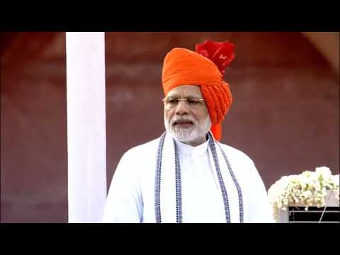 PM Shri Narendra Modi's speech from the ramparts of Red Fort on 72nd Independence Day-15 August 2018