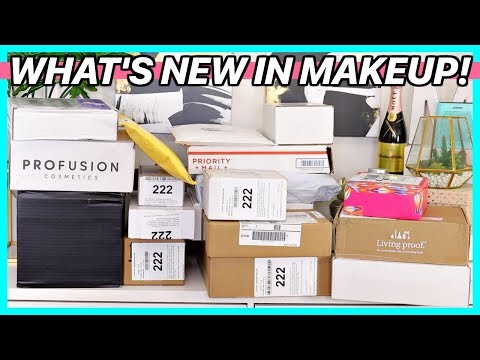 HUGE PR HAUL UNBOXING   WHAT'S NEW IN MAKEUP thumbnail