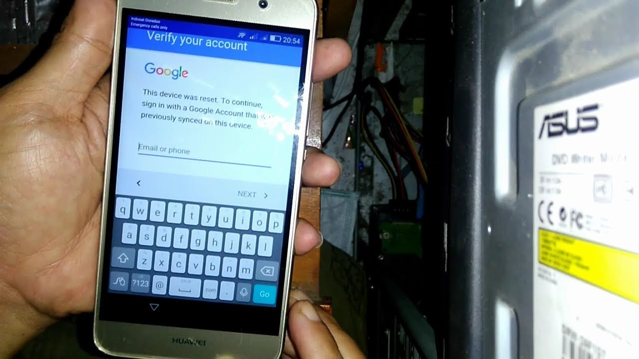 Cara Bypass Google Account Frp Lock Huawei Y6 Scl L21 Youtube