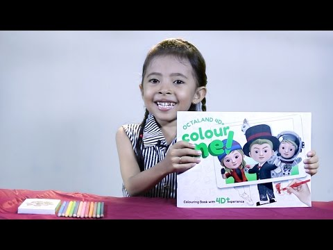 Buku mewarnai Octaland 4D+ Color Me dan kartu permainan 4D mengenal profesi-kids toys